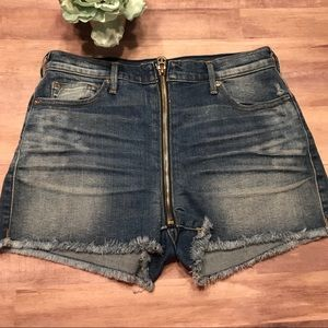 High waisted shorts jean cut off true religion 28